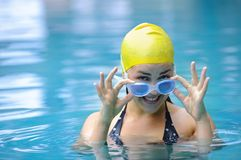 Goggle girl Royalty Free Stock Photos