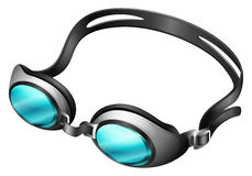 Goggle. Swimming goggle with blue lens Royalty Free Stock Photo