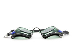 Goggles. Dive goggles, isolated on white background stock photo