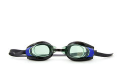 Goggles. Dive goggles, isolated on white background royalty free stock photography