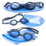 Goggles and cap for swimming Royalty Free Stock Photo