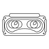 Goggles 3d simulation entertaiment thin line Royalty Free Stock Photography