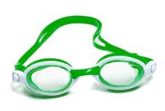 Goggles för simning Arkivfoto
