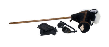 Goggles Gloves and Hobby Horse Stock Photography