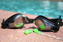 Goggles and Plugs Royalty Free Stock Images