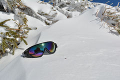 Goggles on snow Royalty Free Stock Photo