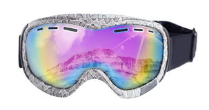 Goggles for snowboarding Royalty Free Stock Photo