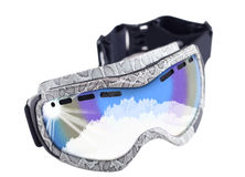 Goggles for snowboarding Stock Photo