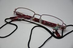 Oval reading glasses cutout. Goggles  spectacle eye white vision eyeglass eyesight lens glasses object optical fashion medicals Stock Photography