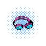 Goggles for swim icon, comics style Royalty Free Stock Photo