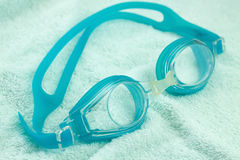Goggles and Swimming cap Stock Images