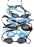 Goggles for swimming with water drops Stock Image