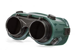 Goggles for welding work, isolated on white, with clipping path Royalty Free Stock Images