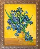 gogh irises фургон картины Стоковые Фотографии RF
