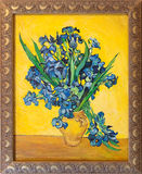 gogh irises målningsskåpbilen Royaltyfria Foton