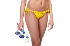 gogle snorkel kobieta Zdjęcia Stock