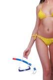 gogle snorkel kobieta Fotografia Royalty Free