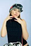 gogle snowboarder kobiety Fotografia Stock