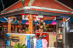Gogo bar girl Lamai, Koh Samui Stock Photos