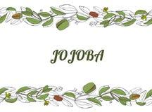 Gogoba monochrom stock illustratie