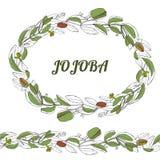 Gogoba monochrom royaltyfri illustrationer