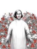 Gogol in rosarium Royalty Free Stock Photo