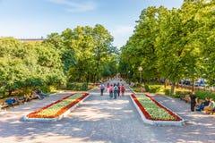 Gogolevsky boulevard i sommaraftonen Royaltyfri Bild