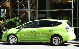 GoGreenRide car service vehicle in midtown Manhattan Stock Photography