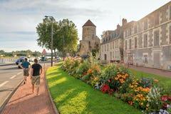 Goguin-Turm am Kai des Flusses die Loire Lizenzfreie Stockfotografie