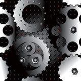 Gogwheels metallic seamless Stock Image
