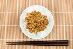 gohan natto Arkivfoto