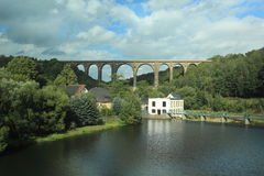 Gohrener viaduct in Saxony Royalty Free Stock Photos