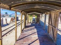Gohsttrein dichtbij Salar de Uyuni in Eduardo Avaroa National Reser Stock Afbeeldingen