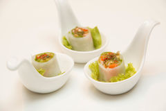 Goi Cuon Chay Vietnamese vegetable rolls Stock Photo