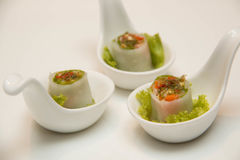 Goi Cuon Chay Vietnamese vegetable rolls Stock Images