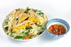 Goi GA - poulet vietnamien cru avec de la sauce à poissons fraîche images libres de droits
