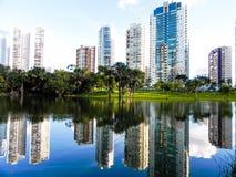Goiania Parque flamboyant tardepicnick Arkivbild