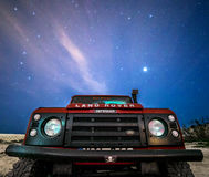 Going Anywhere, Anytime. DELIMARA, MALTA - FEBRUARY 6, 2016: The Land Rover Defender, now out of production, will remain the adventurous' favourite vehicle for royalty free stock images