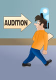 Going into audition Royalty Free Stock Images