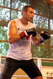 Current  World heavyweight champion boxer Vitali Klitschko  getting ready for championship fight Stock Images