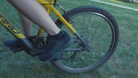 Going by Bike, Low Angle View. Going by Bike Low Angle View stock footage