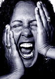 Going Crazy. Brunette Woman Going completly Crazy and screaming Stock Images