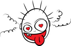 Going crazy because of the love. Cartoon Stock Photography