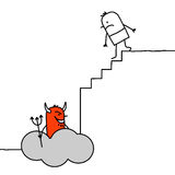 Going down to hell royalty free illustration