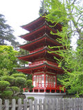 Going East. Asian pagoda from Japanese garden stock photos