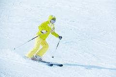 Going fast downhill Royalty Free Stock Photography