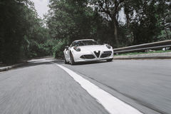 Going fast. In an italian supercar. Lots of turbo lag Royalty Free Stock Photography