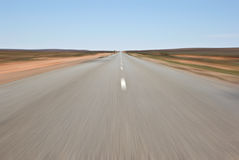 Going fast road at speed Royalty Free Stock Photo
