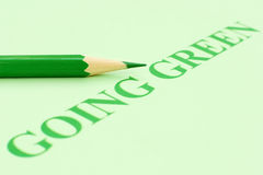 Going green Royalty Free Stock Image