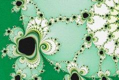 Going green fractal flowers mosaic ornament stock illustration